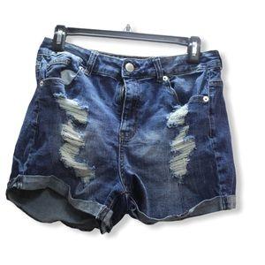 🎀3/$30 Streetwear Highrise Distressed Jean shorts